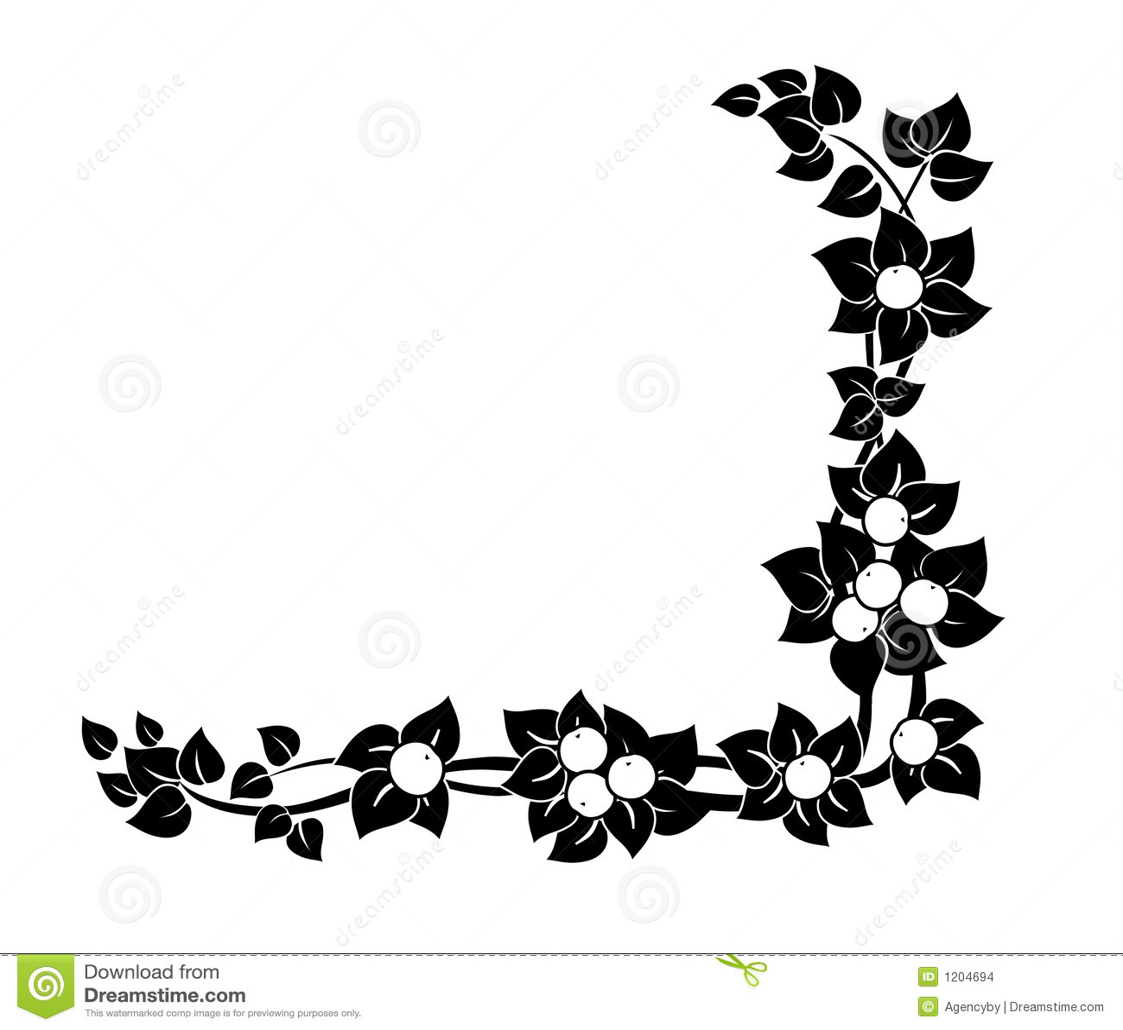 Black and white graphic decor - Decorative Corner Ornament Stock Images Image 1204694