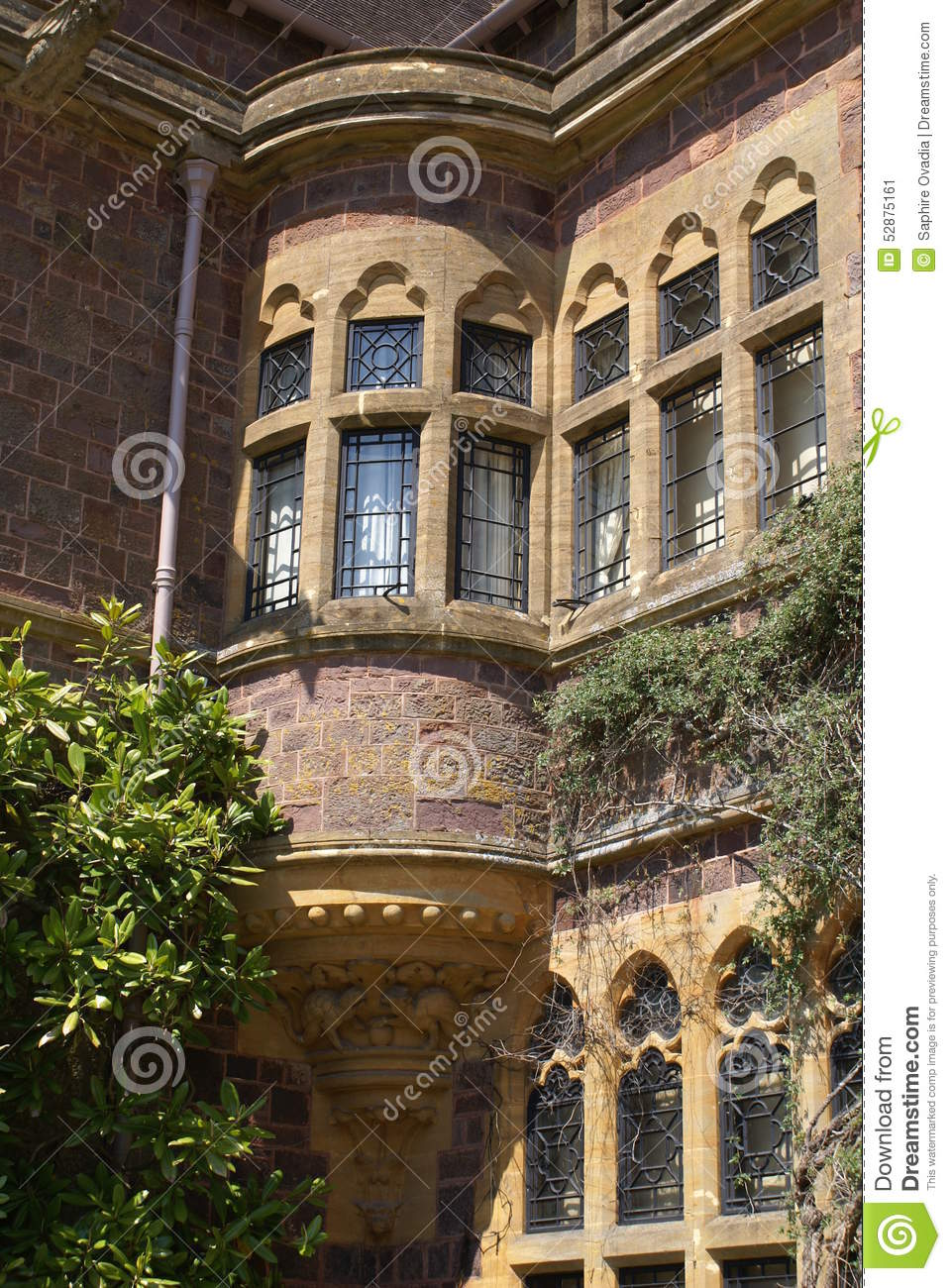 Royalty-Free Stock Photo. Download Decorative Corner Tudor Bay Window ...