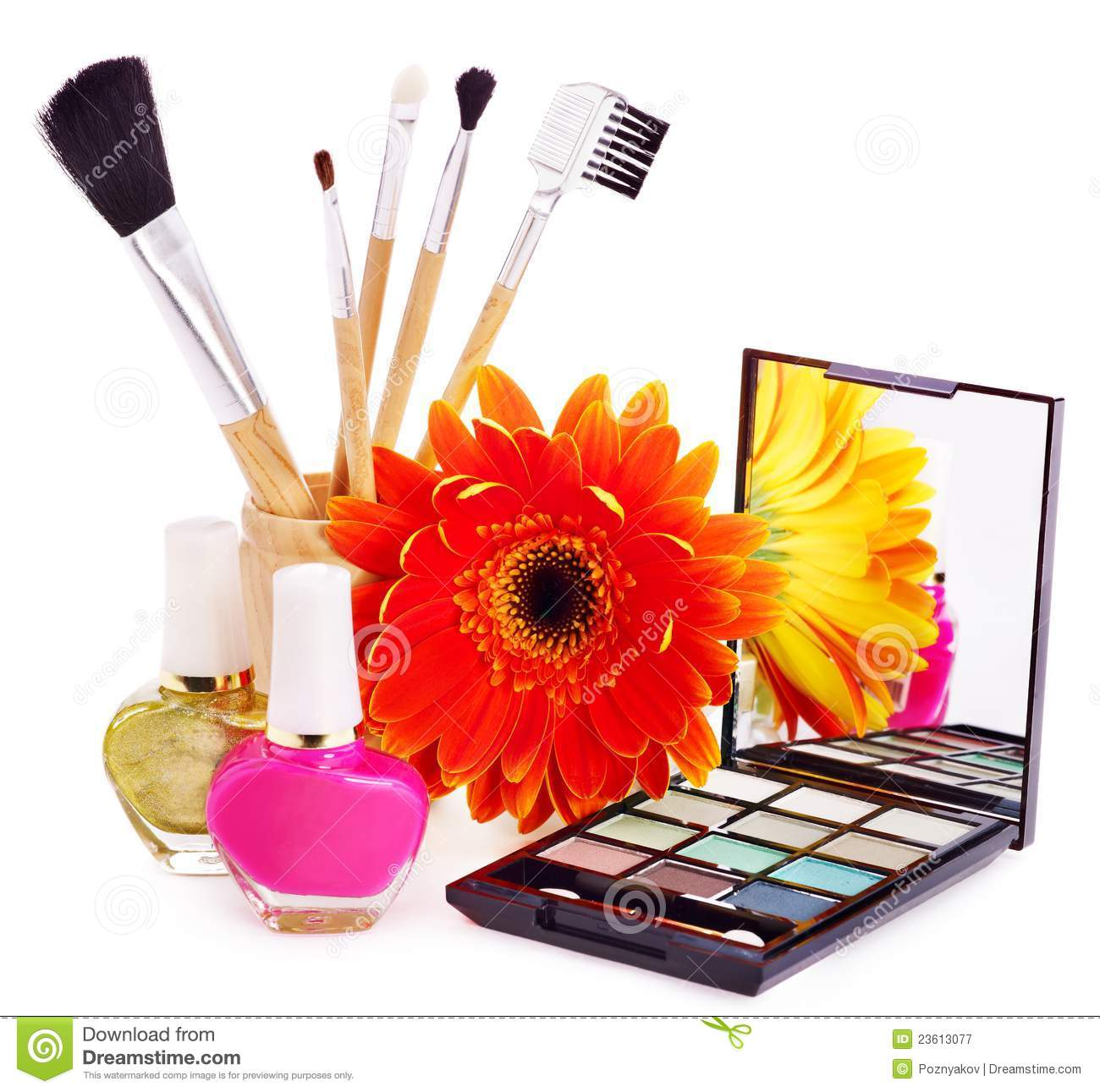 Decorative Cosmetics And Flower Royalty Free Stock graphy Image 2361