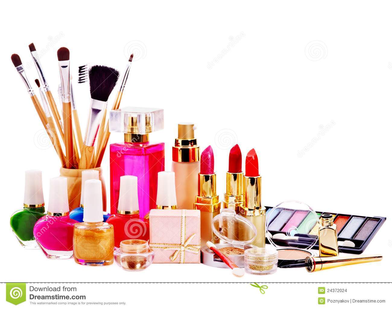 Decorative Cosmetics And Perfume. Stock Photo