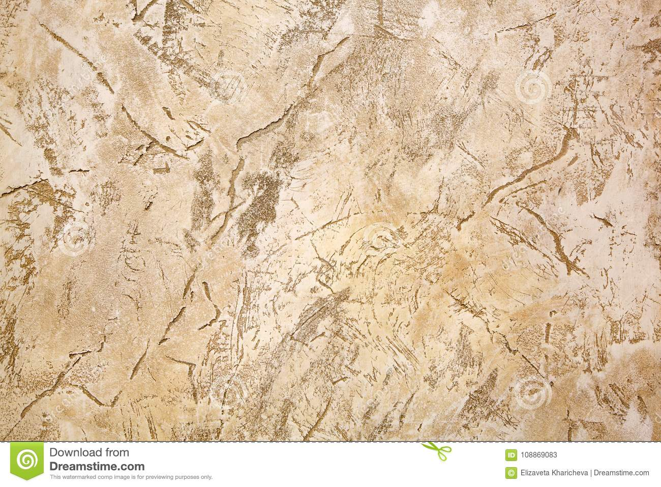 Decorative Covering For Walls Under A Light Beige Stone. Stock Image ...
