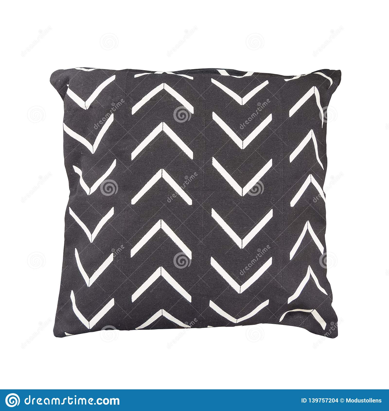 Decorative cushion with geometric pattern