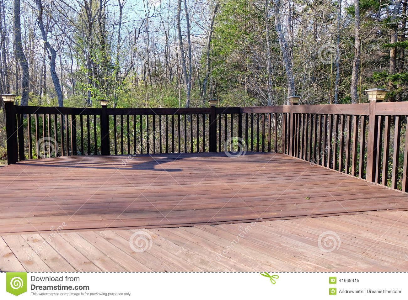 Decorative Deck Lighting Stock Photo Image 41669415