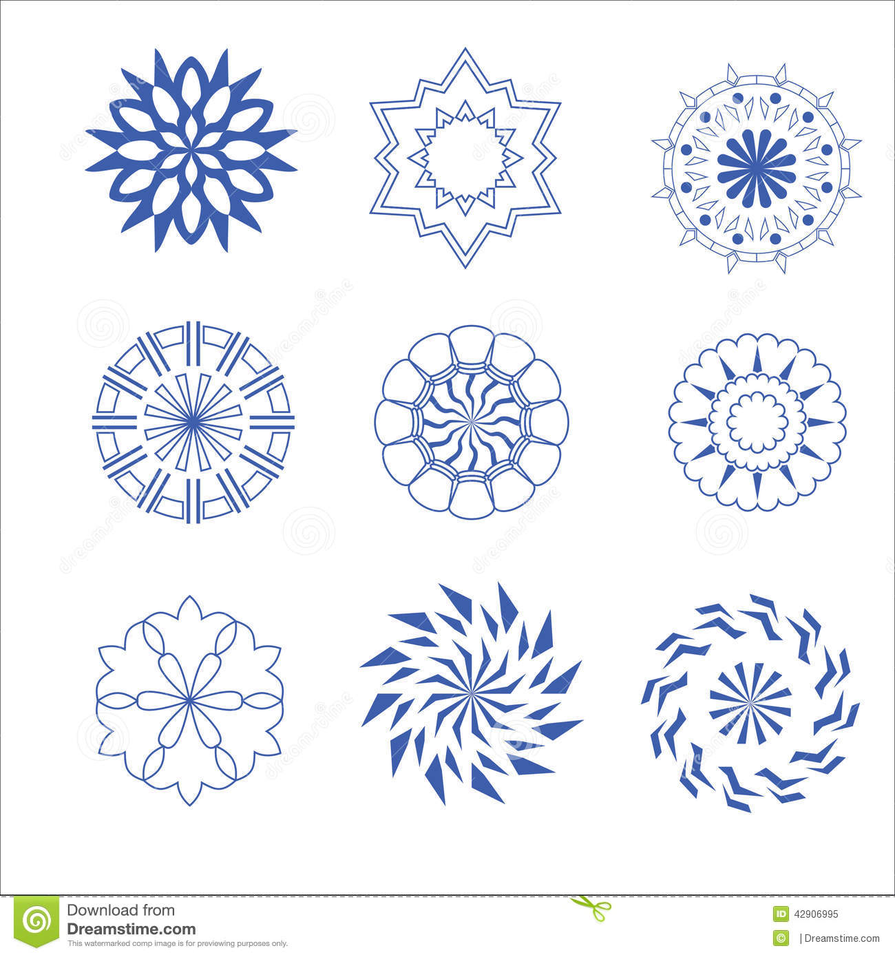 decorative design vector circle and flower stock vector