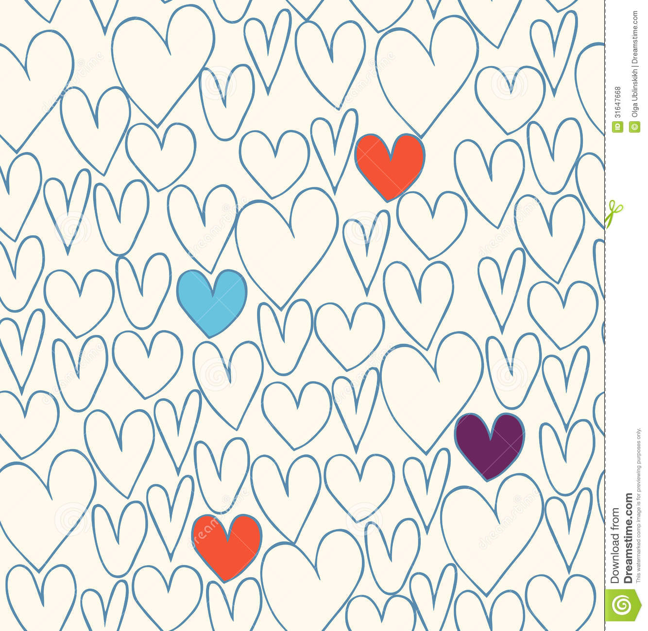 Abstract vintage background stock images image 31930534 - Decorative Doodle Background With Hearts Royalty Free Stock Photos