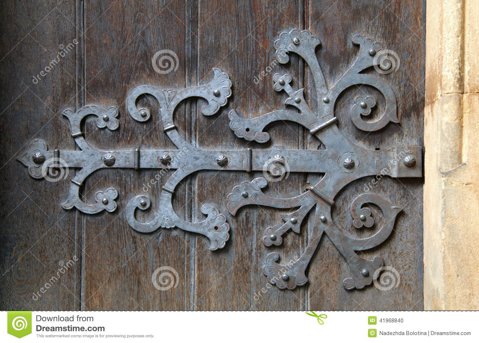 Decorative Door Hinge Stock Photo - Image: 41968840