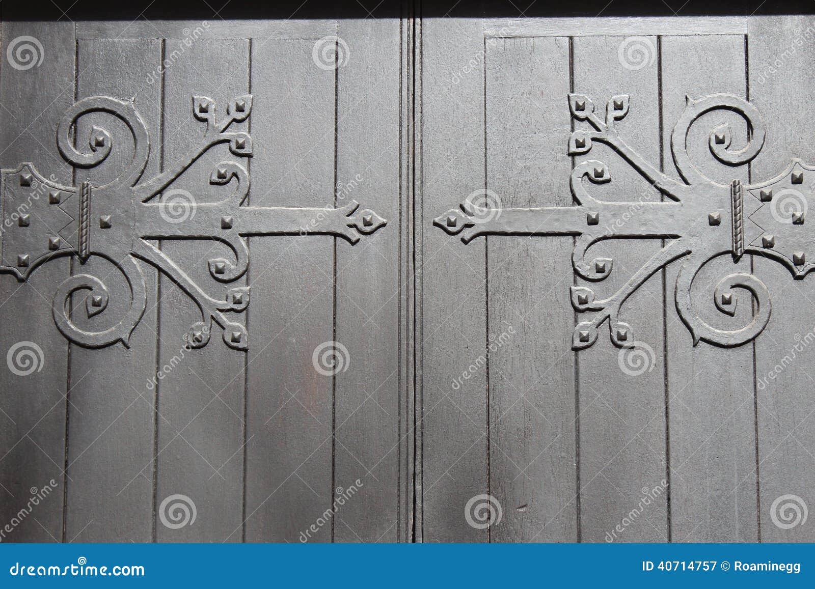 Download Decorative Door Hinges Stock Image. Image Of Design, Detail    40714757