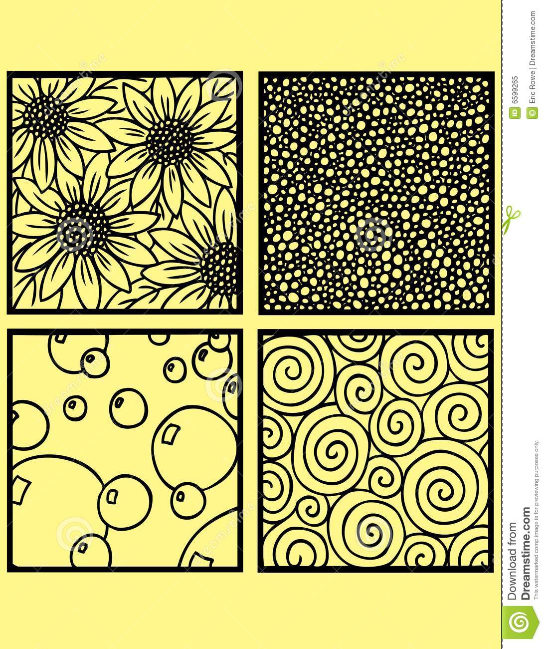 Decorative drawing tiles