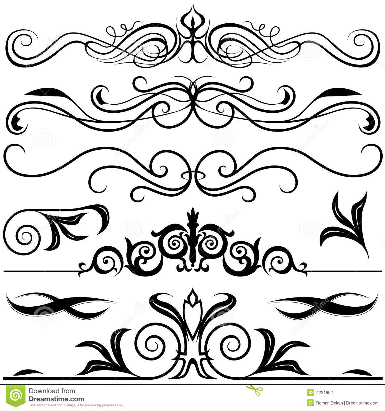 Decorative elements a stock vector image of swirl vector for Decoration elements