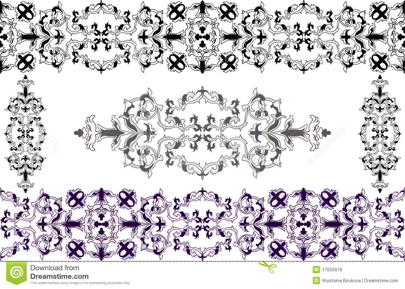 Decorative elements in baroque style stock vector image for Baroque architecture elements