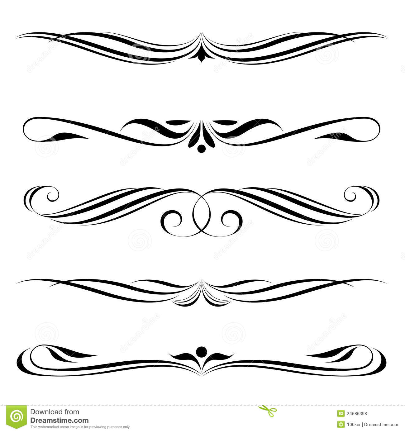 Decorative elements border and page rules royalty free for Decoration elements