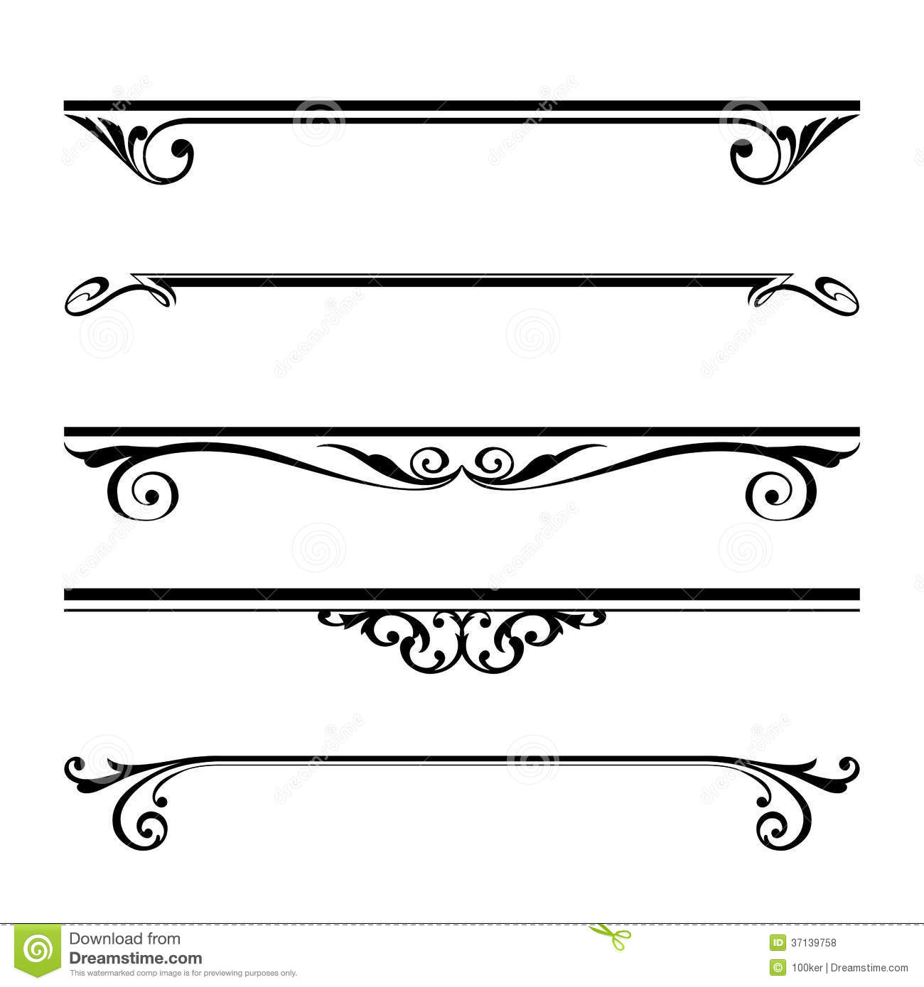 Decorative Elements Border And Page Rules Fretwork Black
