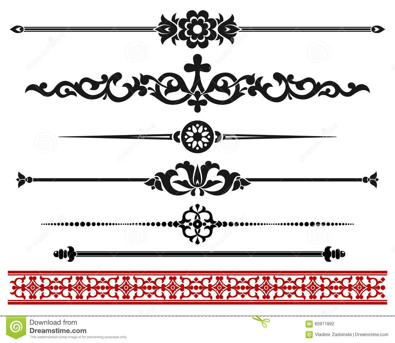 Design elements - decorative line dividers and ornaments. Graphic ...