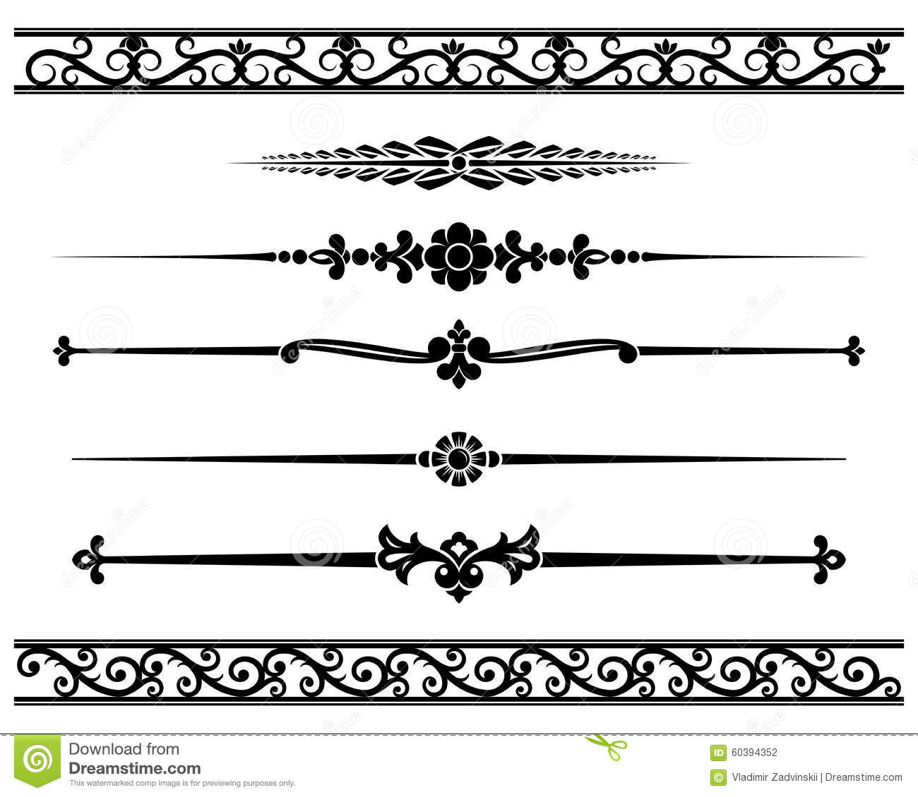 decorative elements stock vector illustration of pattern