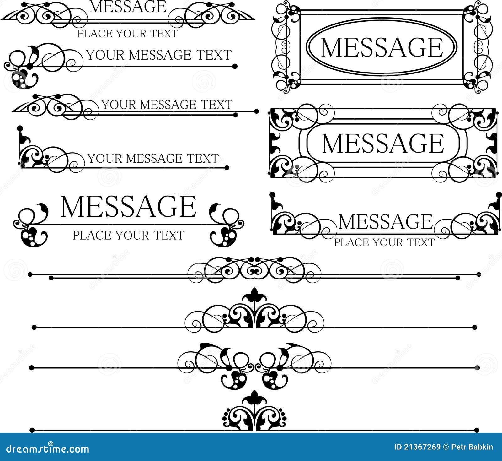 Decorative elements vintage royalty free stock images for Decoration elements