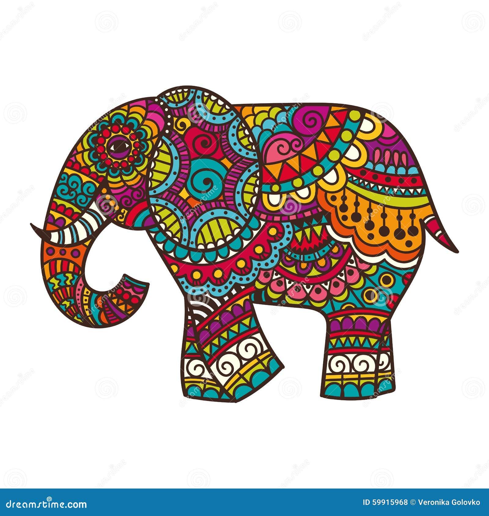Decorative Elephant Illustration Stock Vector ...