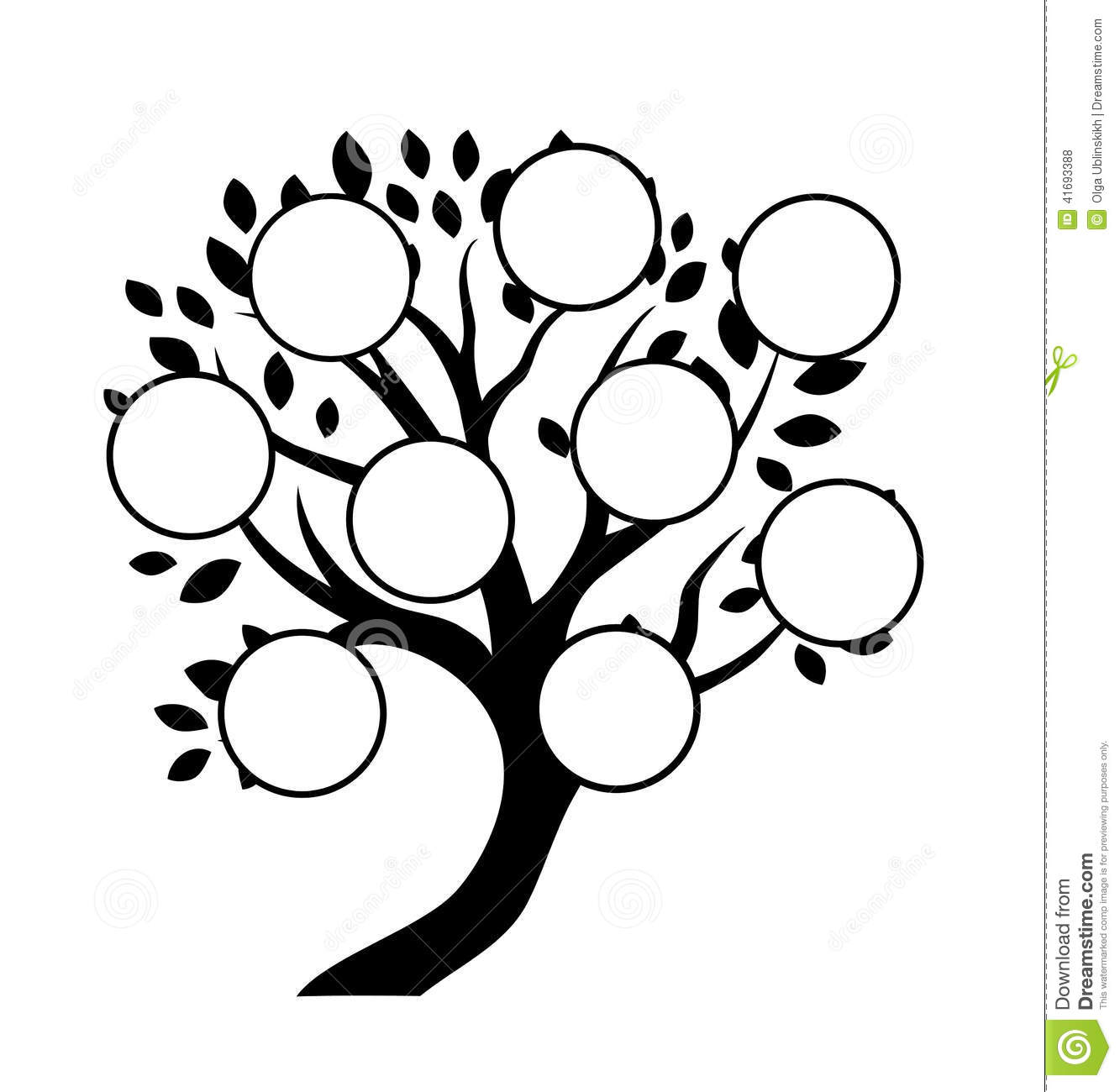 Decorative Family Tree Design Stock Vector Illustration Of Family