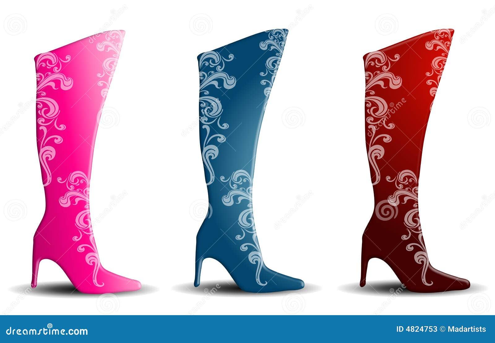High Heel Pink Boots