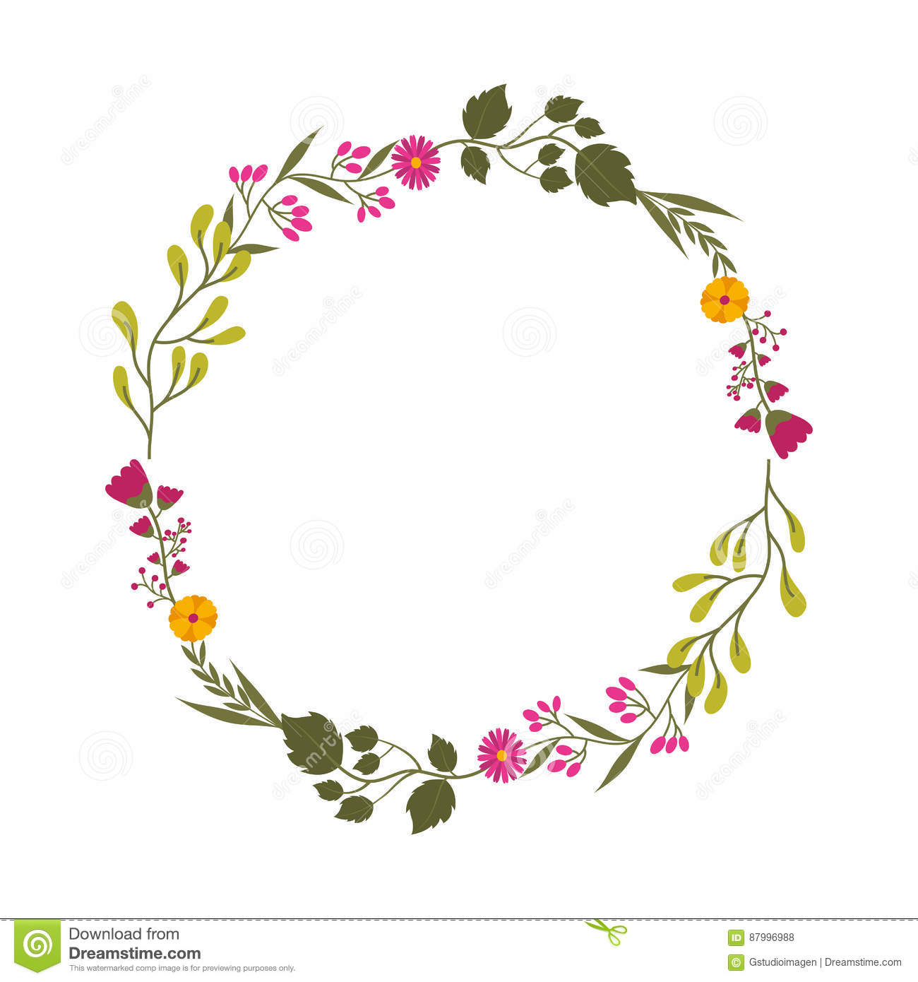Decorative Floral Crown Icon Stock Vector Illustration Of Simple