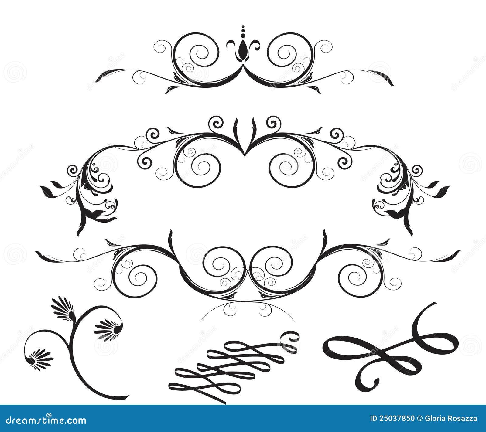 Decorative floral design elements stock photo image for Decoration elements