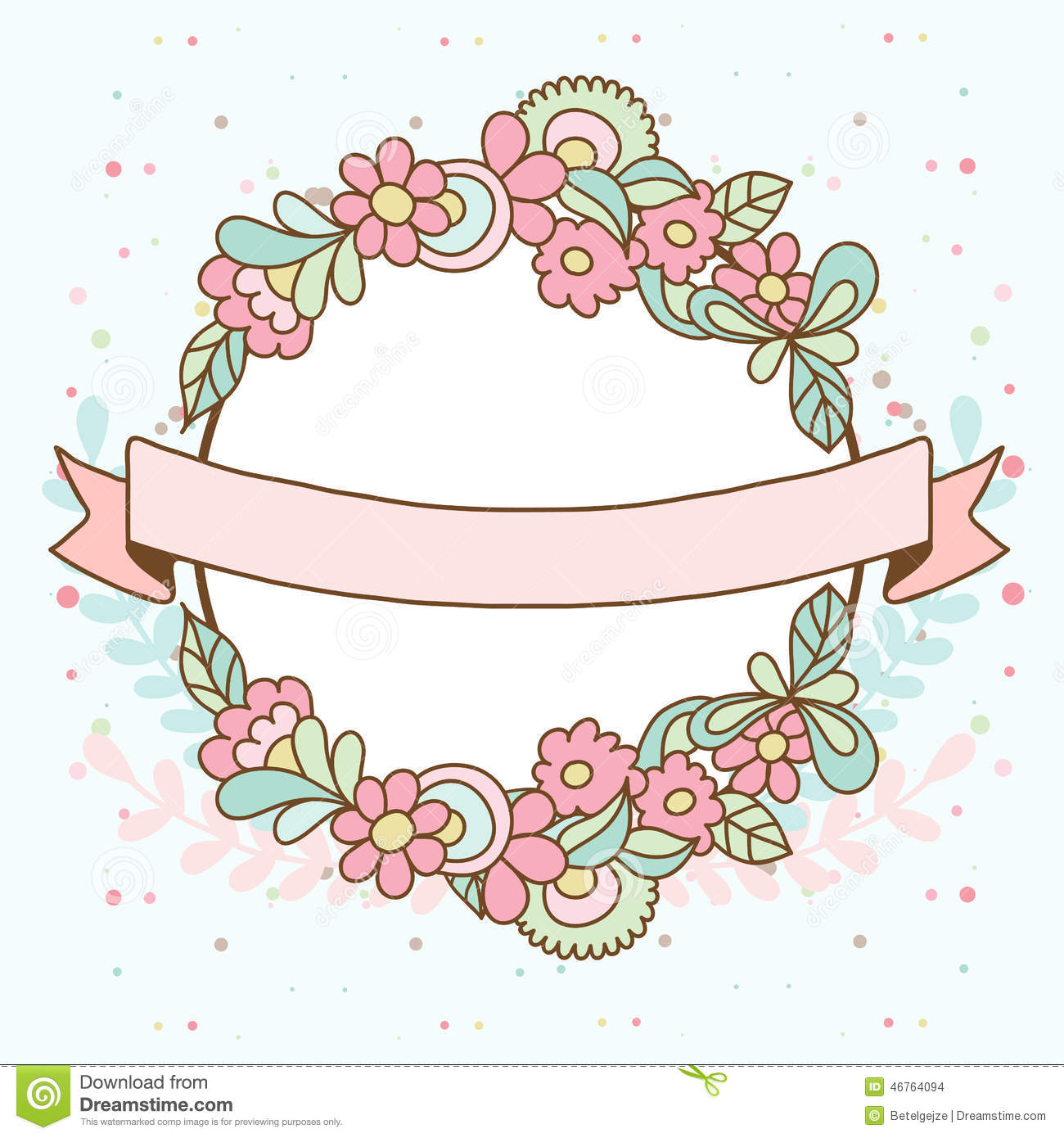 Camellia Illustration Decorative Floral Fram...