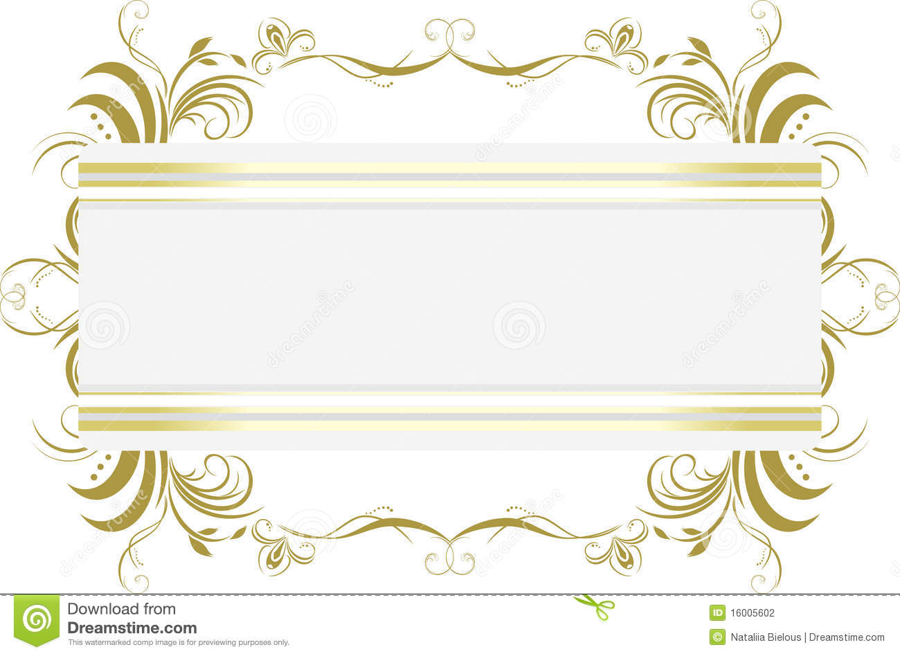 Decorative Floral Frame Title Stock Vector Image 16005602