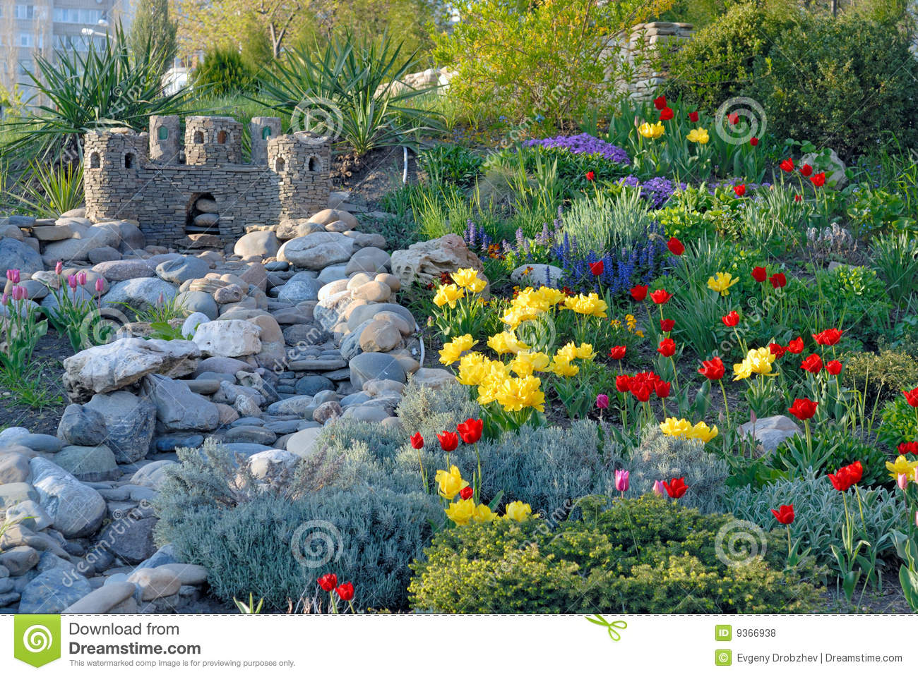 Decorative Stones For Flower Beds : Decorative flower bed royalty free stock photos image