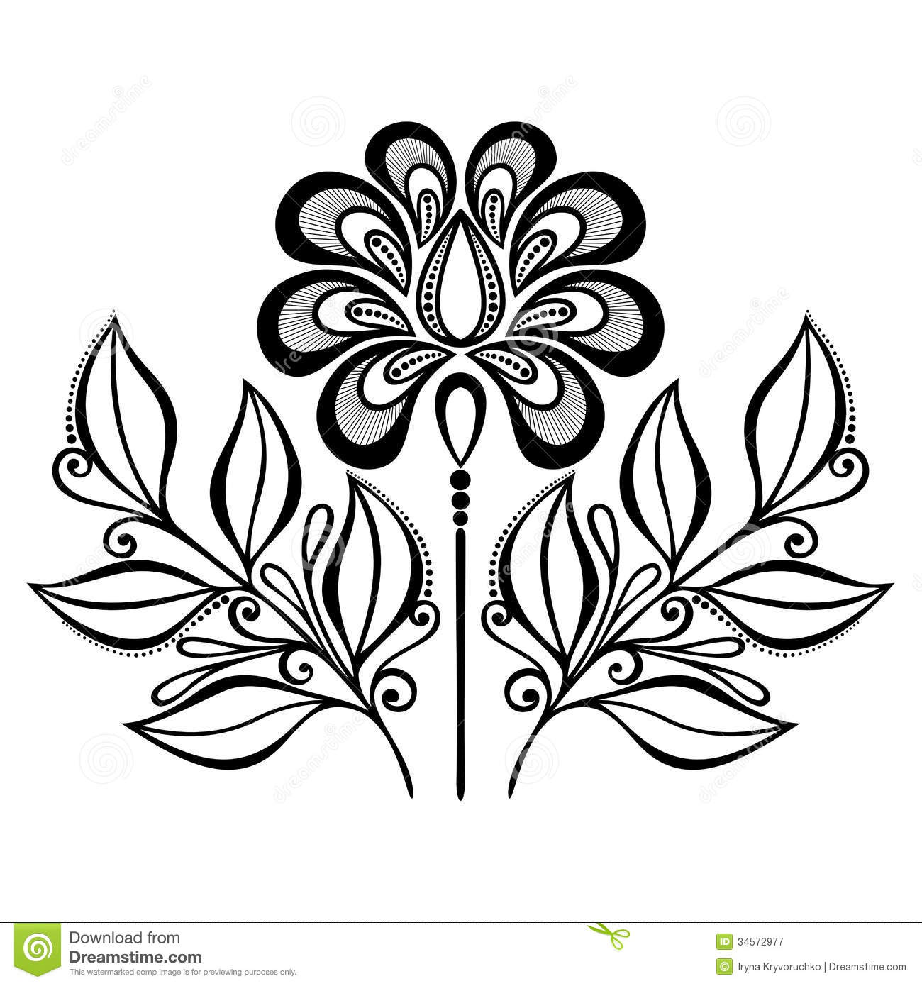 decorative flower with leaves - Decorative Flowers