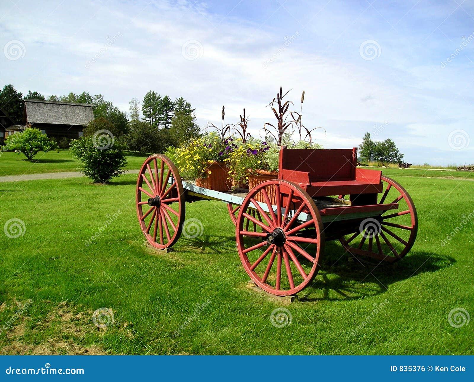 Decorative Flower Wagon