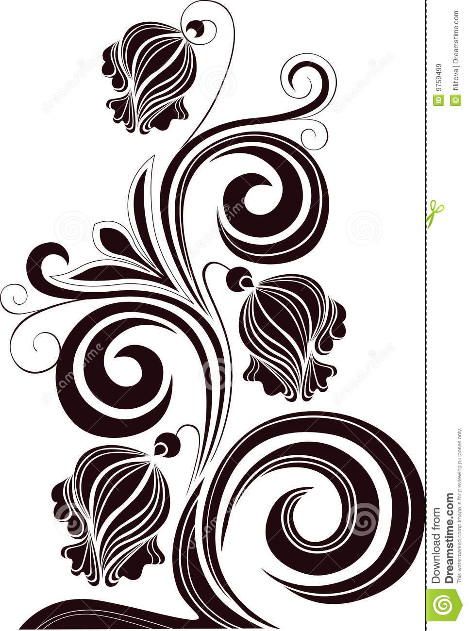 decorative flowers on a white background royalty free stock images - Decorative Flowers