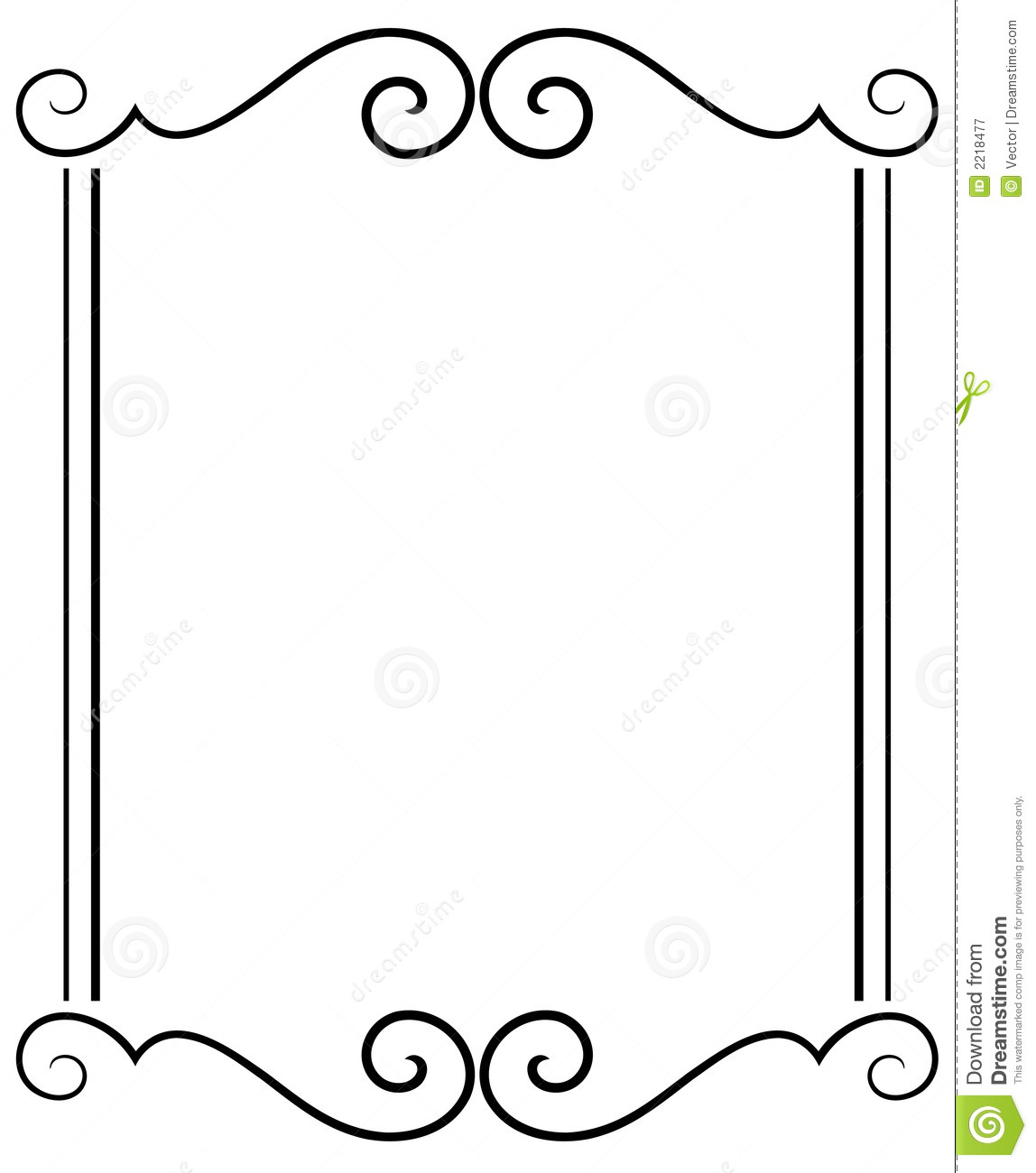 decorative frame stock vector illustration of embellish 2218477 rh dreamstime com free vector frame cameo madam free vector frame borders