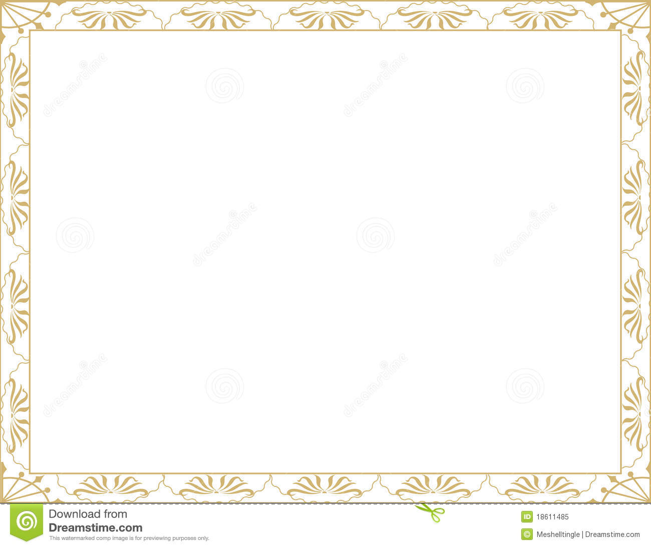 Certificate Photoshop Template