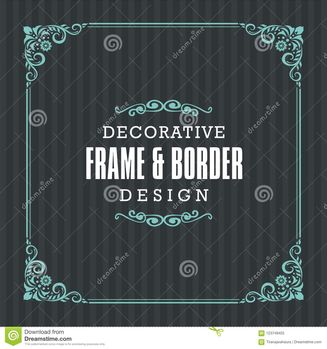 Decorative frame, border with Ornamental Line style