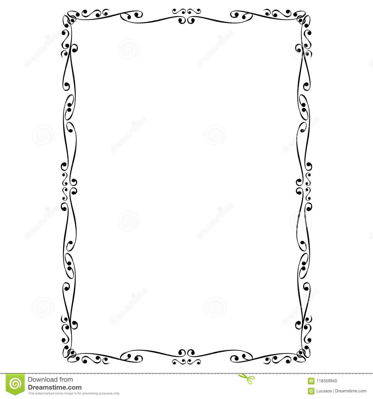 Decorative Frame And Border Stock Vector - Illustration of frames ...