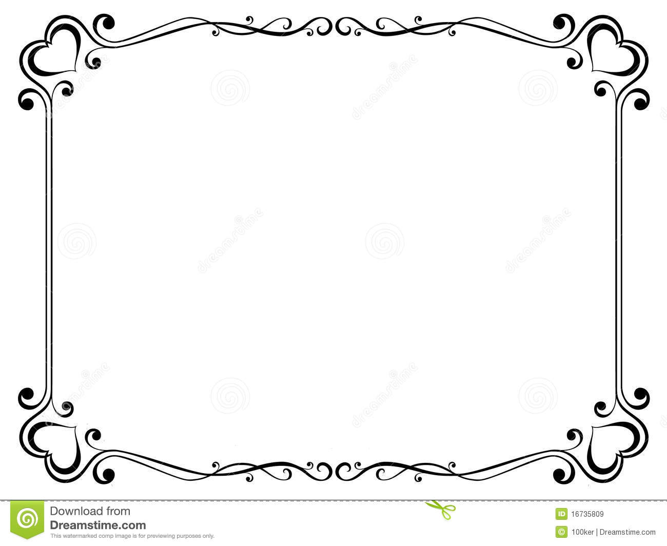 Decorative Frame With Heart Royalty Free Stock Images ...