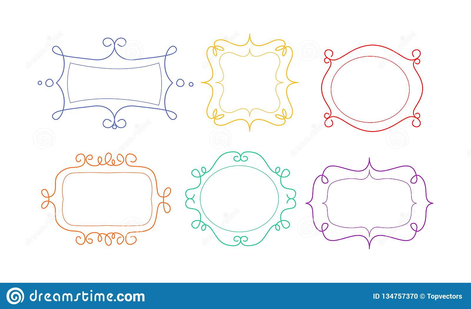 84ef6fa4a69 Decorative Frames Of Different Shapes With Space For Text