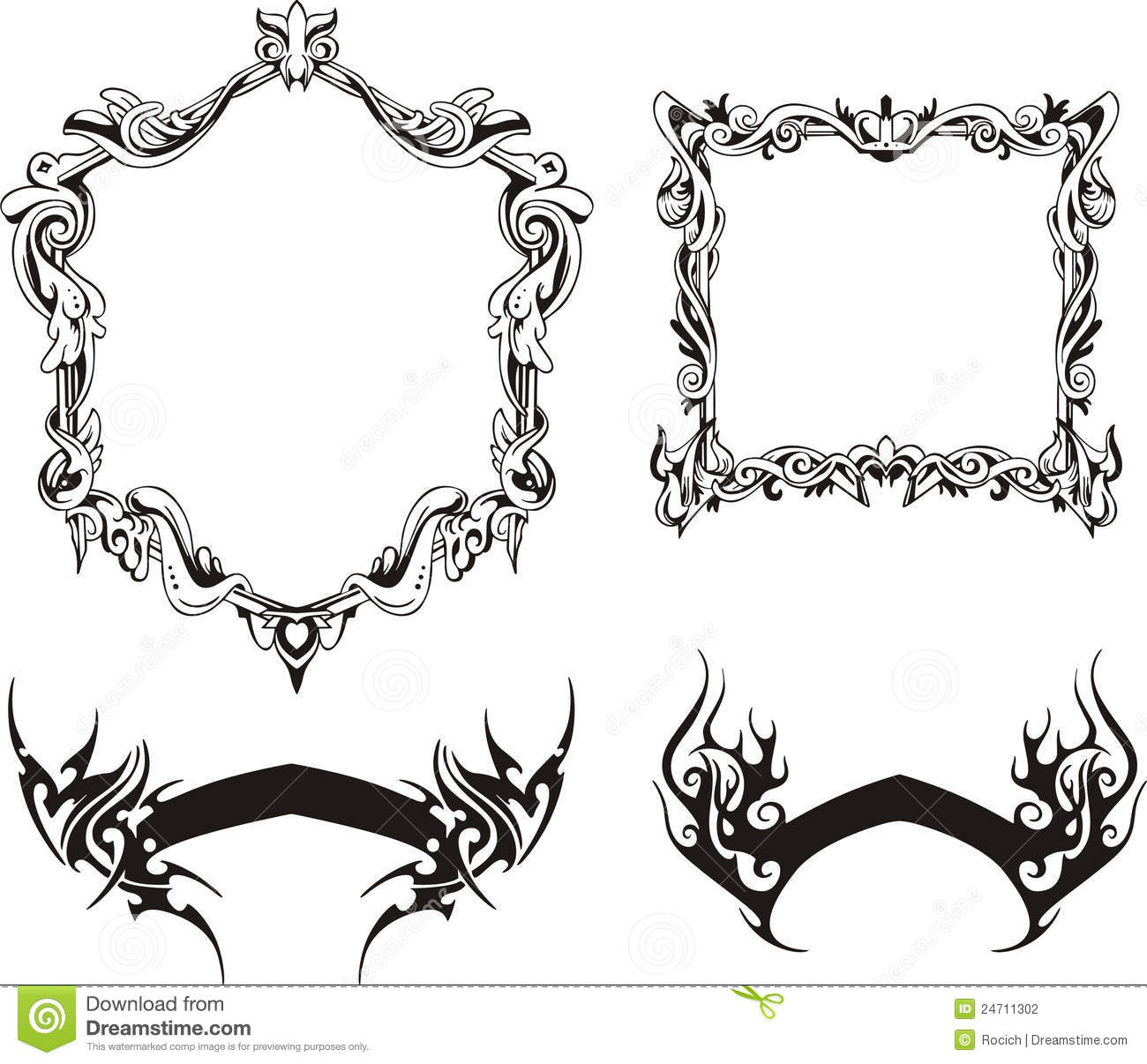 decorative frames and ribbons - Decorative Frames
