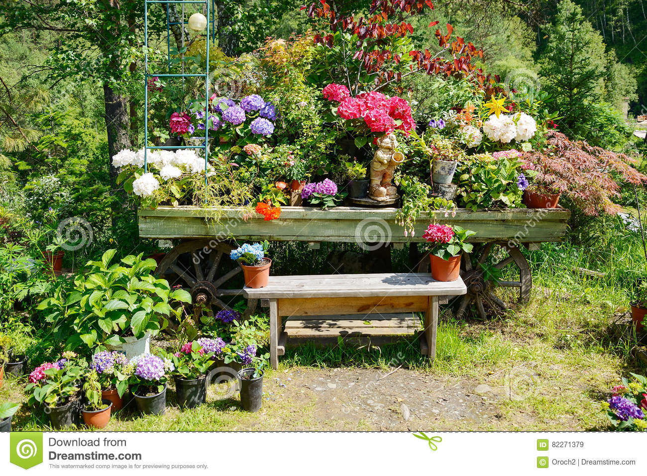 Beautiful Download Decorative Garden Bench Stock Image. Image Of Style, Nature    82271379