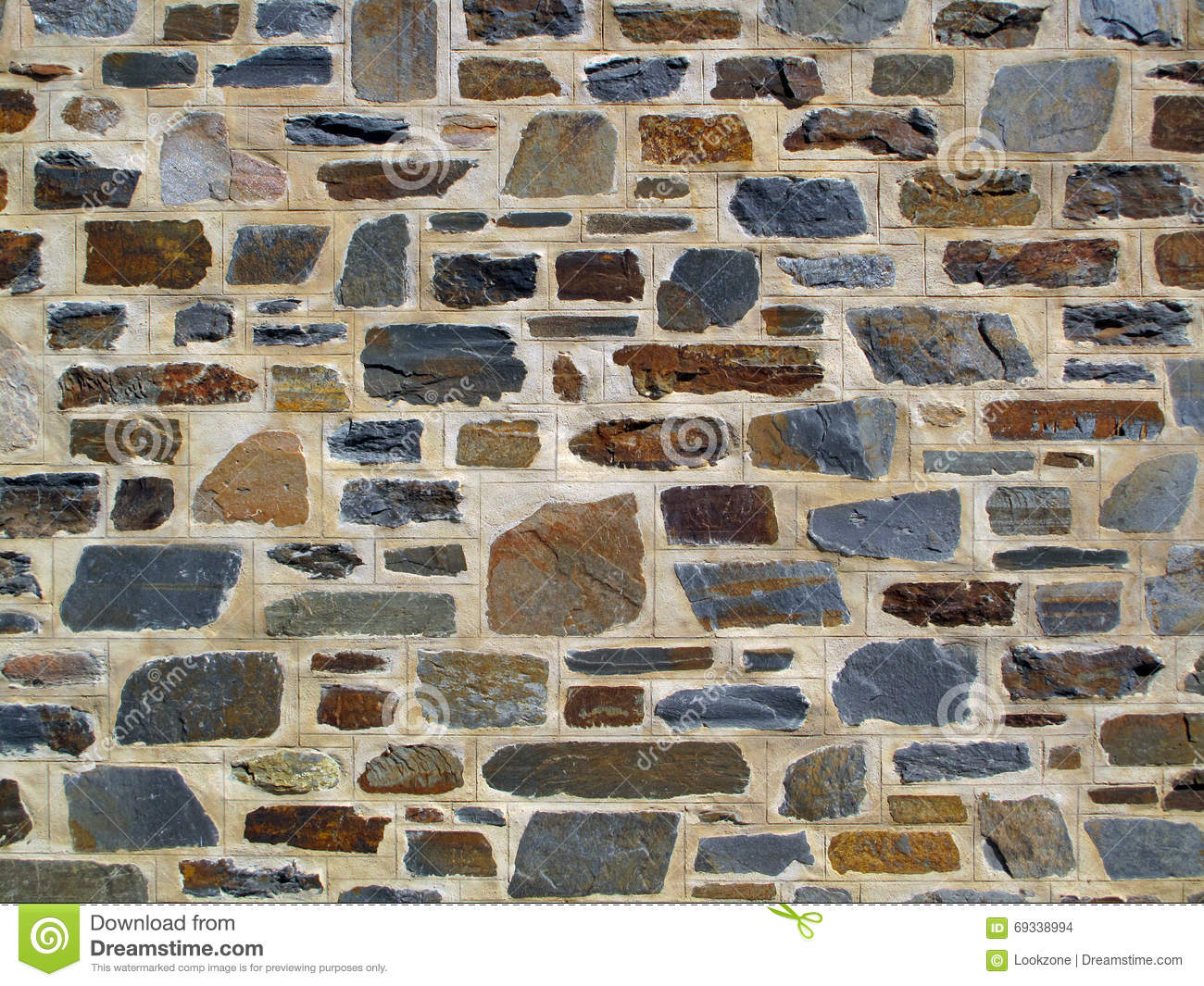 Decorative geometric stone wall stock photo image 69338994 - Decoratie grot ...
