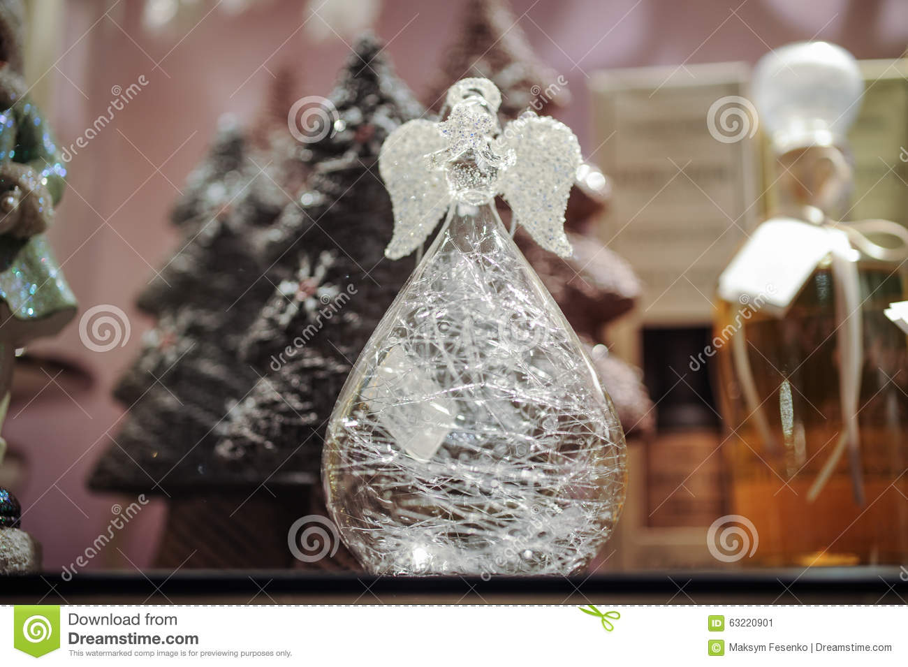 Decorative glass angel christmas decoration stock image for Angel decoration