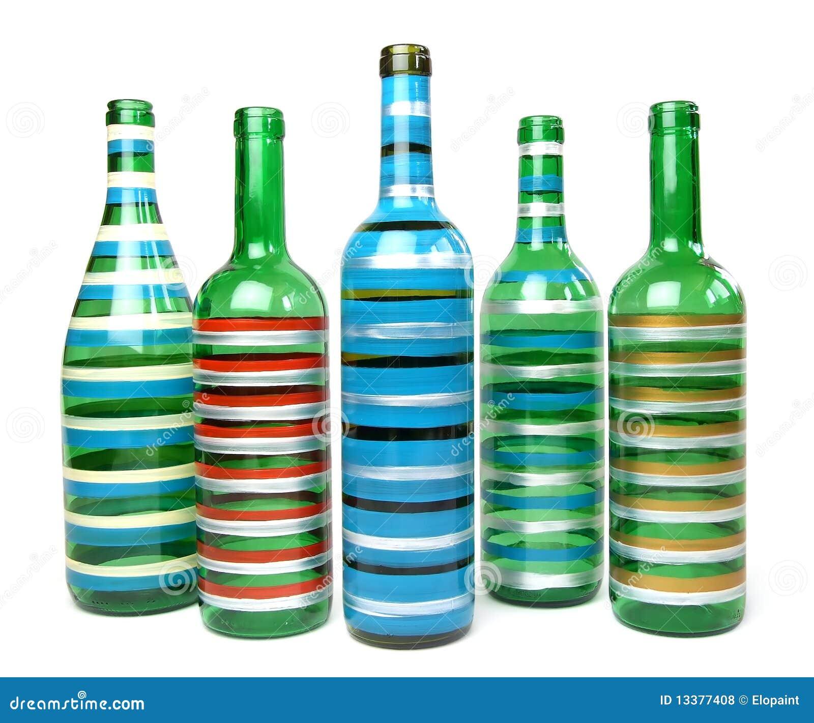 Decorative Glass Bottles Royalty Free Stock Photos Image 13377408