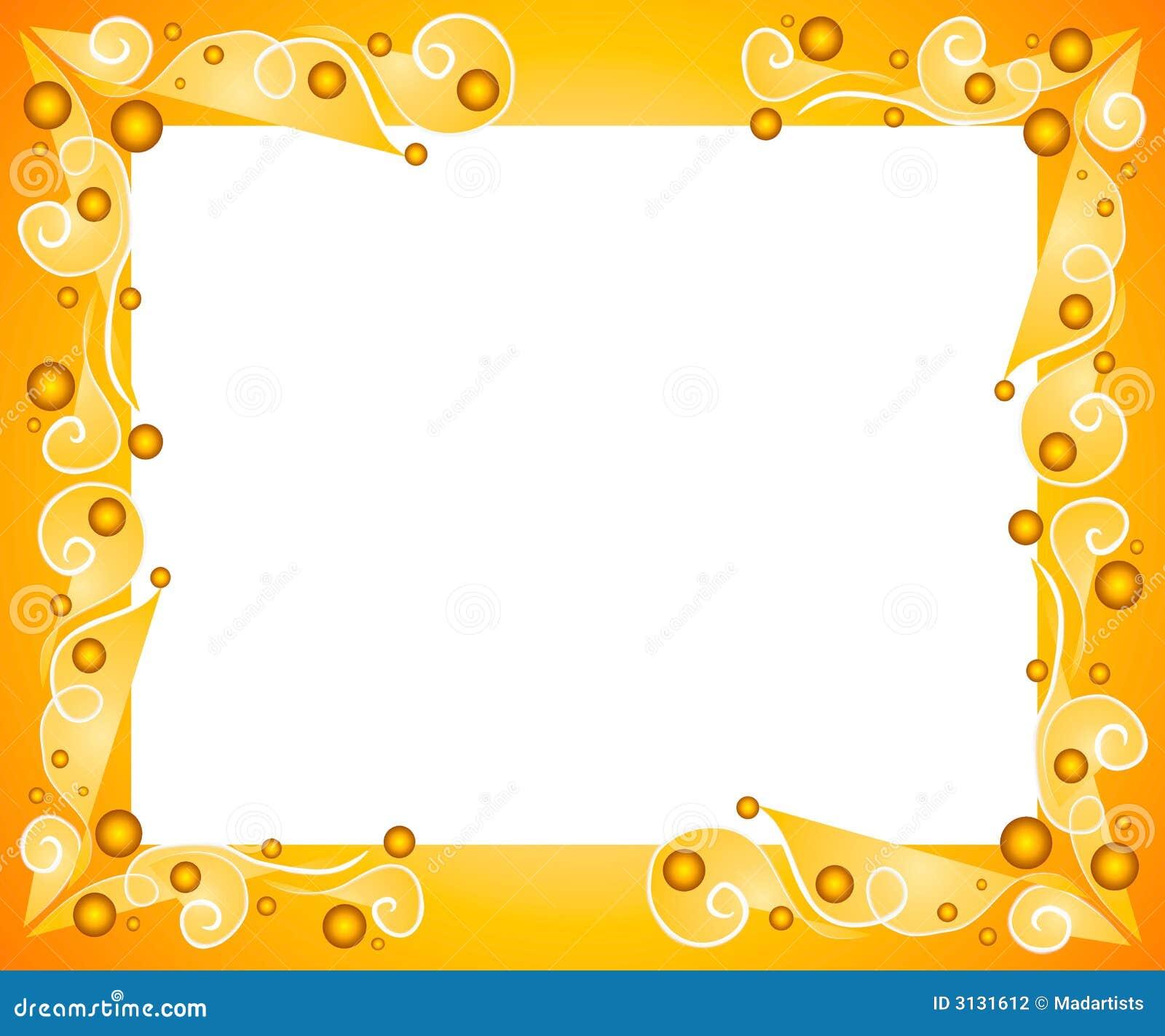 Decorative gold frame border stock illustration for Frame designs
