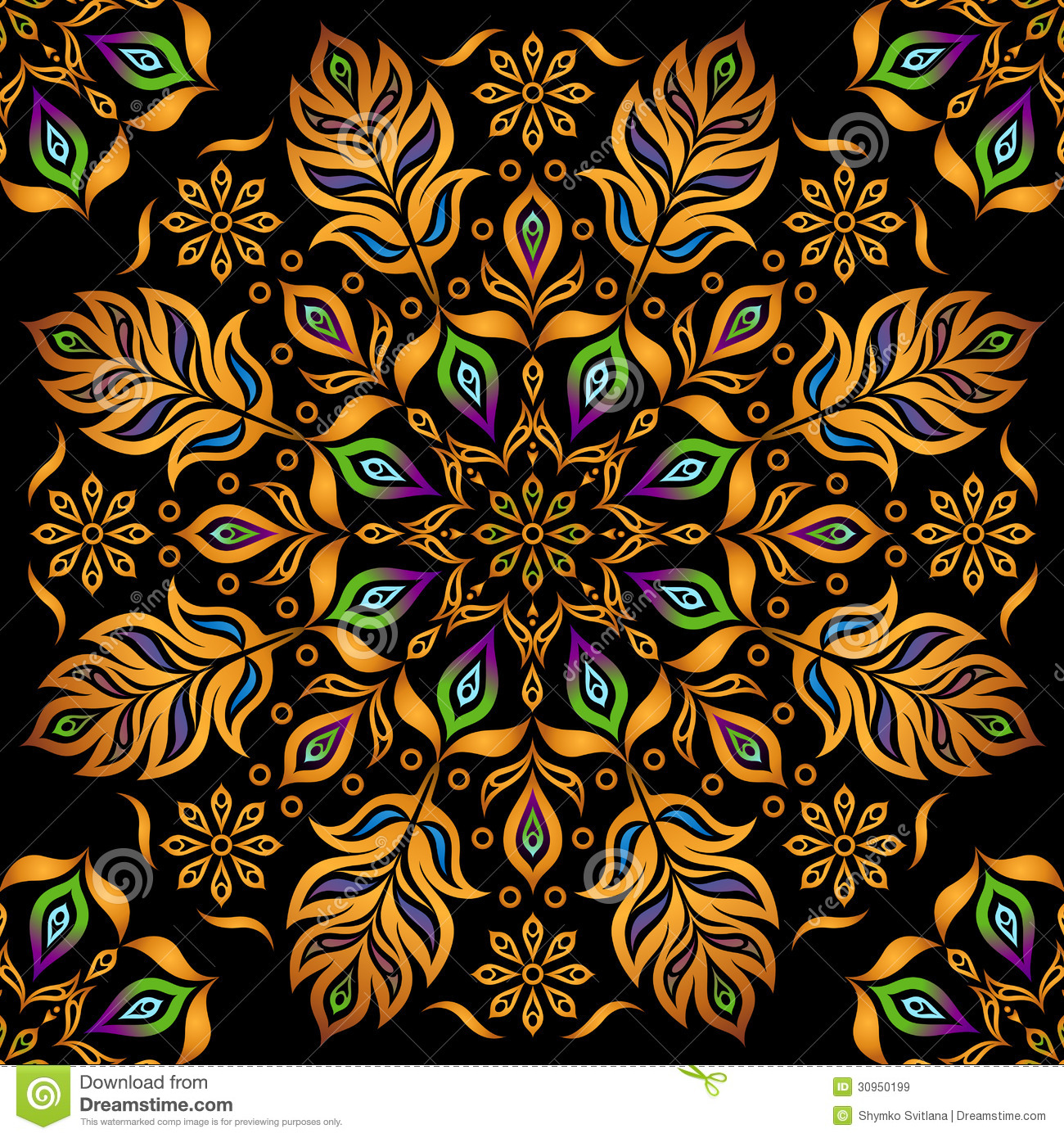 Decorative Gold Pattern Royalty Free Stock Images Image