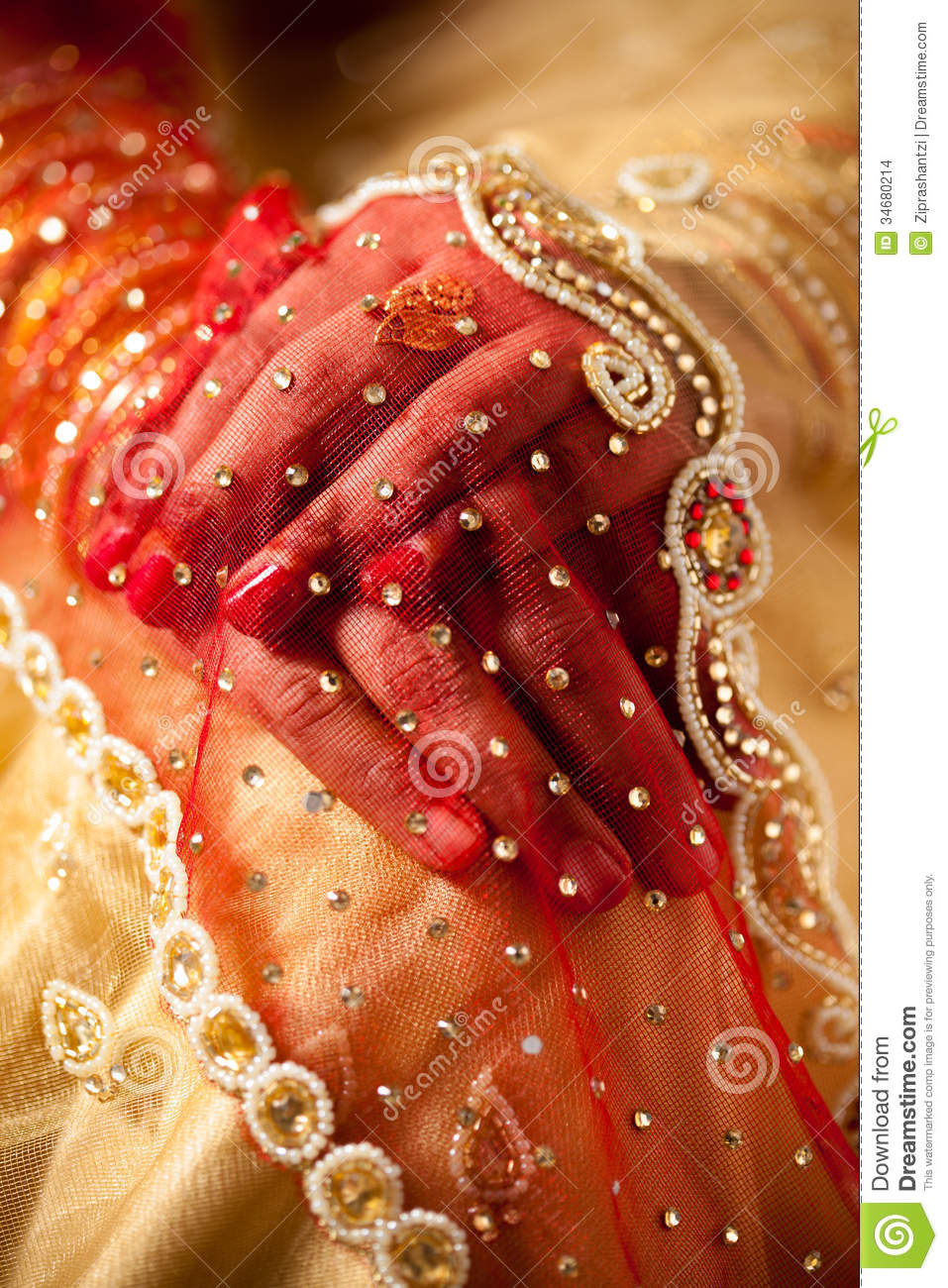 Decorative hand of bride stock photo. Image of tradition - 34680214
