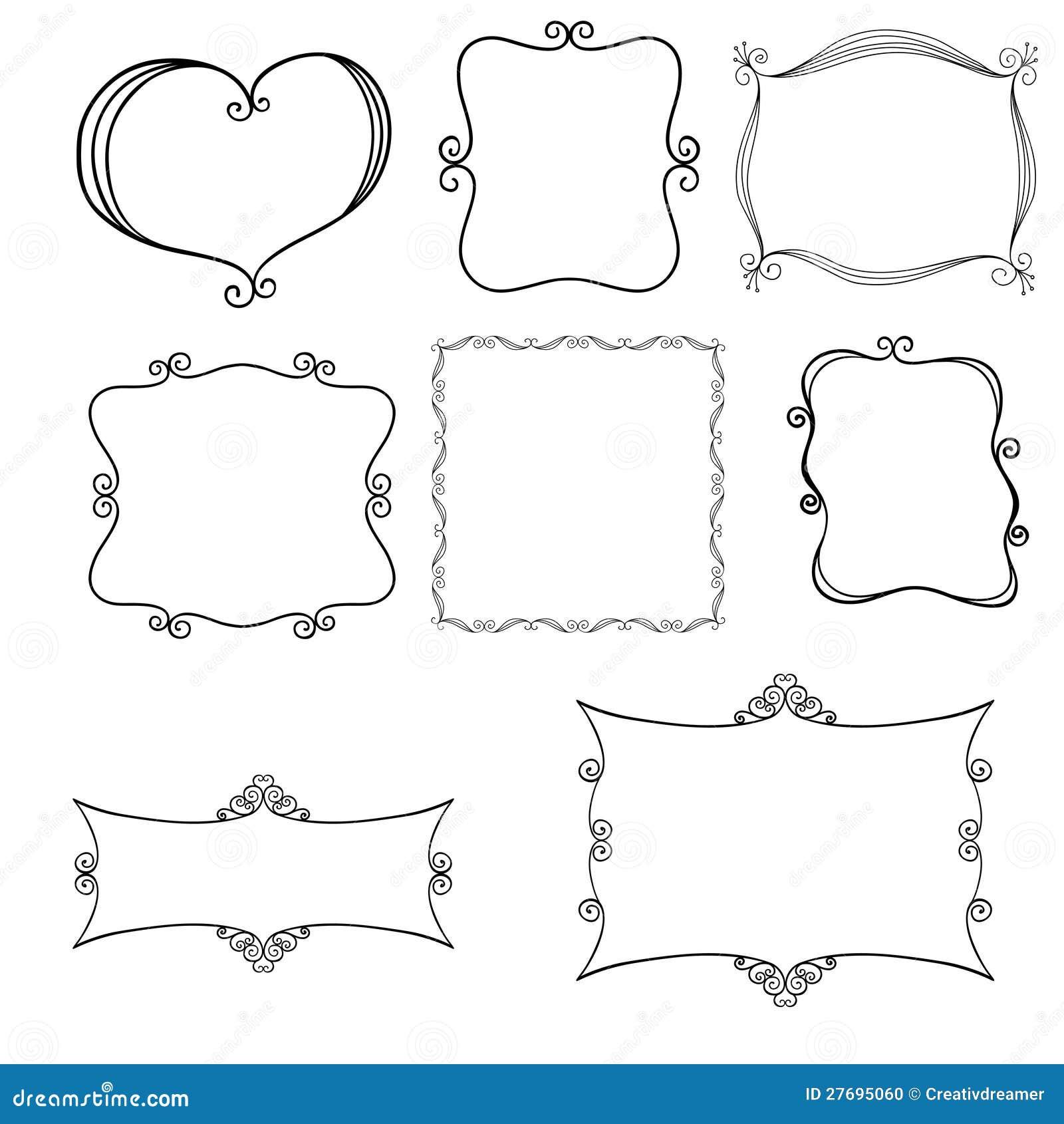 Нарисованные рамки своими руками