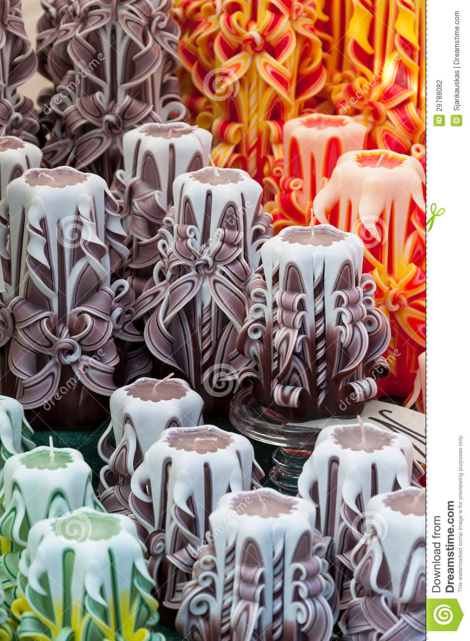 Decorative candles stock photo image of craftsmanship for Homemade crafts for sale