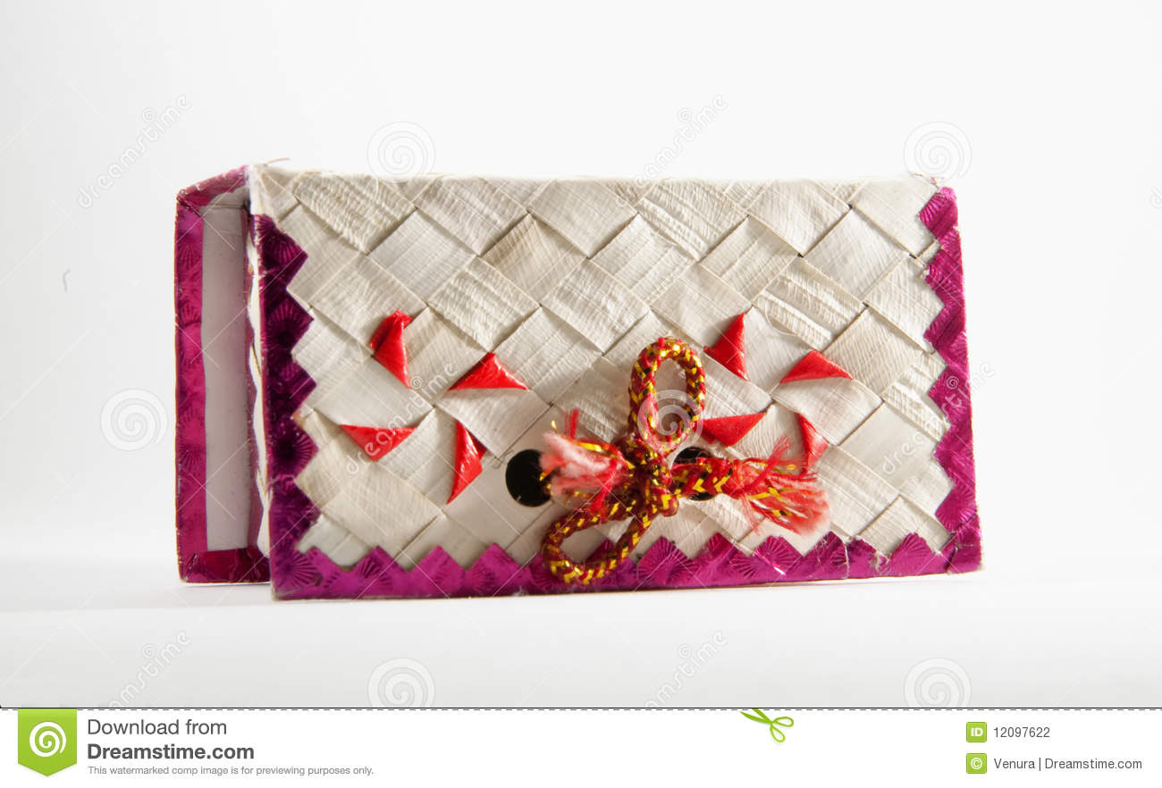 Decorative Handmade Wedding Cake Box Stock Photography