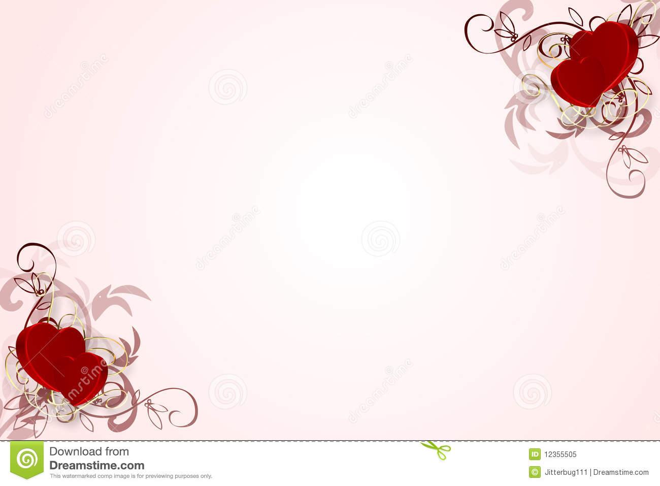 Decorative Heart Background Royalty Free Stock Photo - Image: 12355505