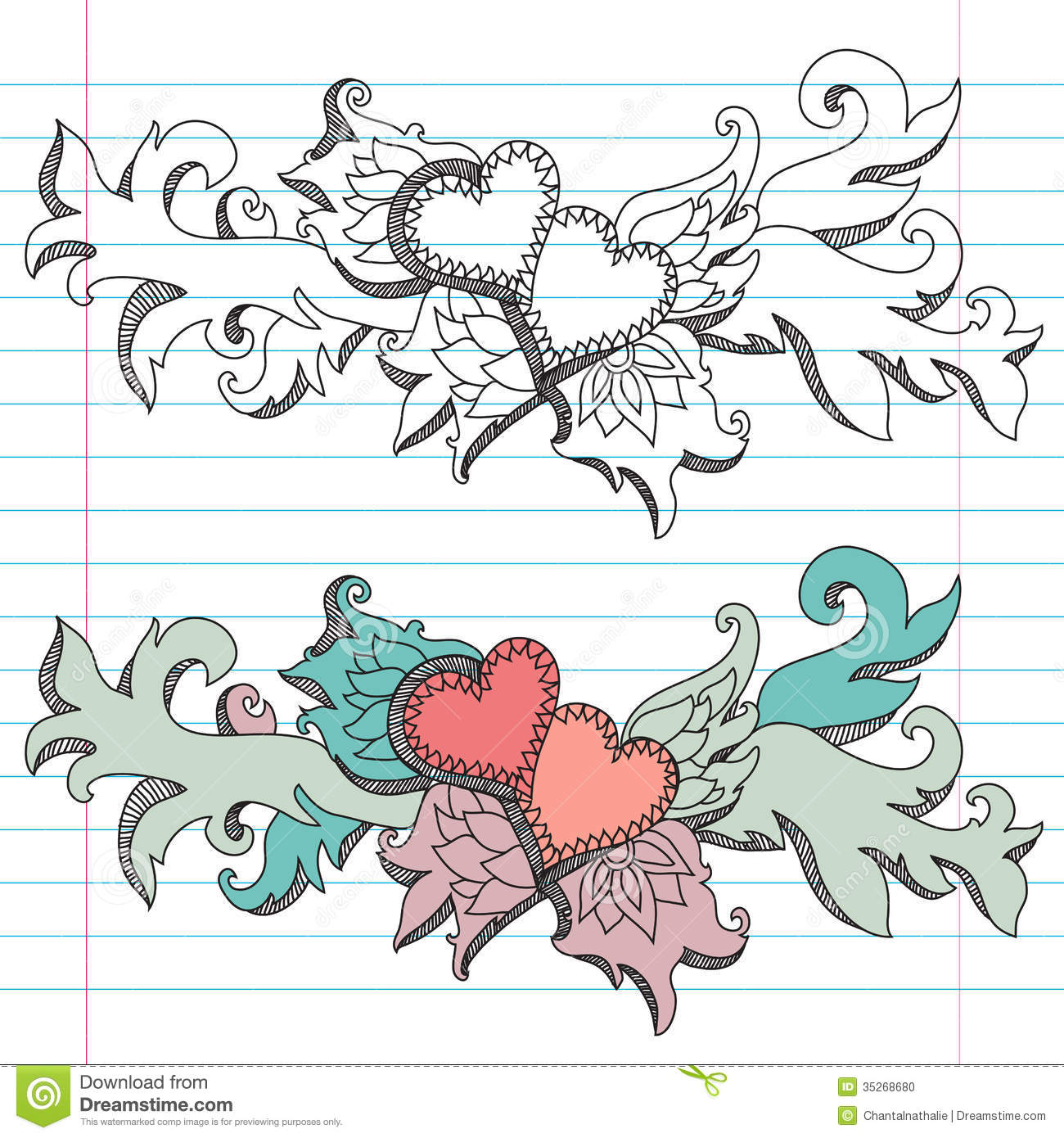 Decorative Hearts Stock Photo - Image: 35268680