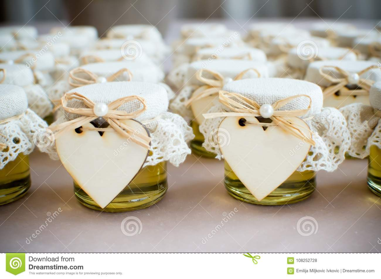 Decorative honey glass jar stock photo. Image of decoration - 108252728